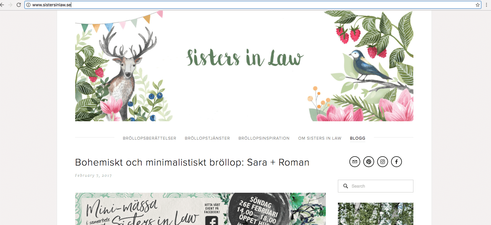 Illustrerad bloggbanner